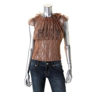 Catherine Malandrino Womens Lace Button Back Blouse - 40