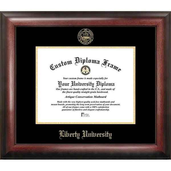 Shop Liberty University Gold Embossed Diploma Frame - Free Shipping ...