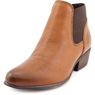 Steve Madden Rozamare Women Round Toe Leather Brown Ankle Boot