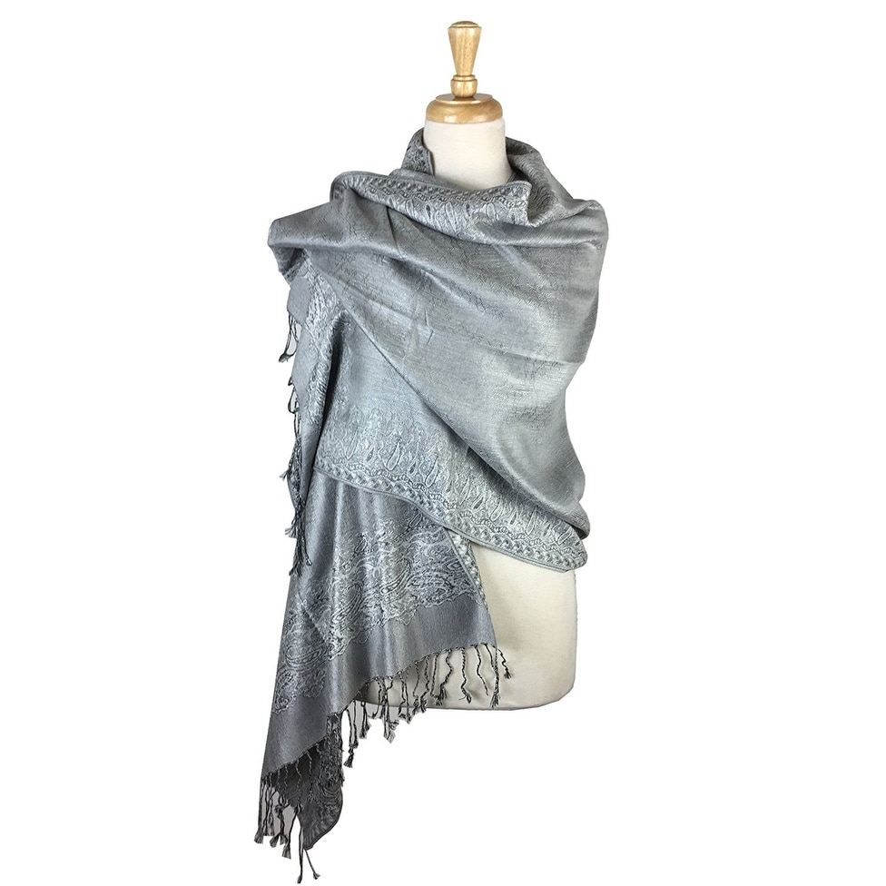 6a8ea45f2d3 Shop Pashmina Shawl Scarf Wrap Border Pattern Double Layered Reversible -  On Sale - Free Shipping On Orders Over  45 - Overstock - 20566873