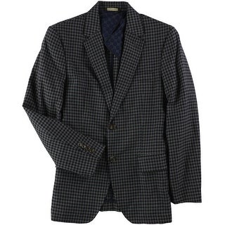 Link to Tasso Elba Mens Checked Two Button Blazer Jacket Similar Items in Sportcoats & Blazers