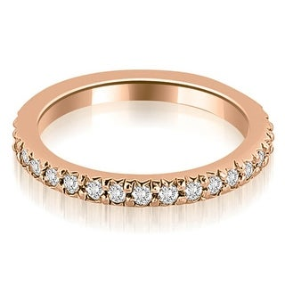0.40 cttw. 14K Rose Gold Round Diamond Eternity Ring (More options available)