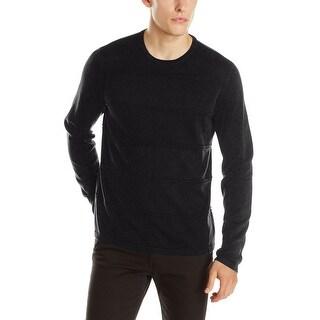 Calvin Klein CK Sweater X-Large Deep Black Striped Crewneck Pullover - XL
