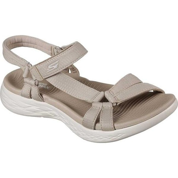 c6a573f103ff Skechers Women  x27 s On the GO 600 Brilliancy Ankle Strap Sandal Natural