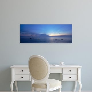 Easy Art Prints Panoramic Images's 'Panoramic view of the sea, South China Sea, Johor State, Malaysia' Canvas Art