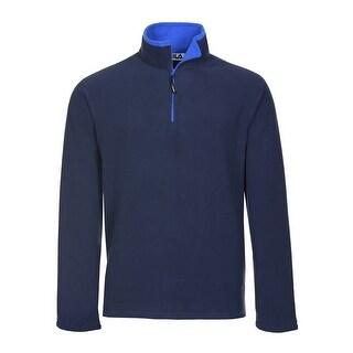 Fila Performance Polartec Fleece Quarter Zip Sweatshirt Navy Blue X-Large
