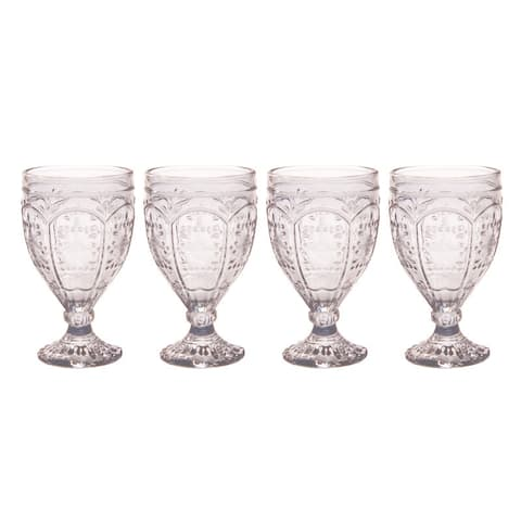 Fitz and Floyd Trestle 12Oz Smoke Goblet (Set of 4)