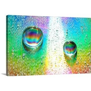 """""""Rainbow Drops I"""" Canvas Wall Art"""