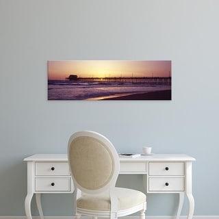 Easy Art Prints Panoramic Image 'Newport Pier, Newport Beach, Orange County, California' Canvas Art