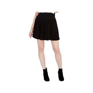 Rachel Rachel Roy Womens Mini Skirt Pleated Textured