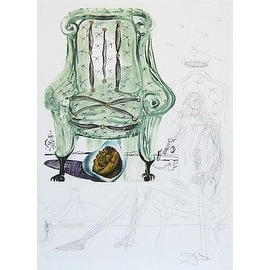 Breathing Pneumatic Armchair, Ltd Ed Mixed Media (Lithograph & Collage), Salv...