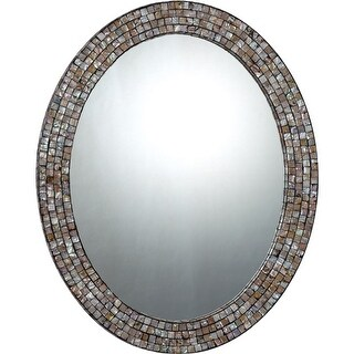 "Quoizel QR1253 Reflections 30"" x 24"" Oval Decorative Mirror - N/A"