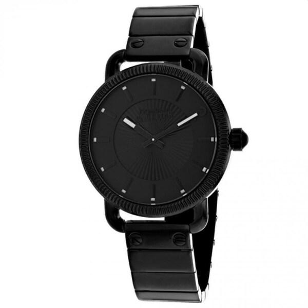 Jean Paul Gaultier Men's 8504402 'Index' Black Stainless Steel Watch. Opens flyout.