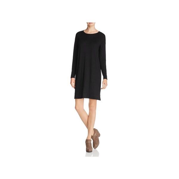 e709d11ca93 Shop Eileen Fisher Womens T-Shirt Dress Above Knee Lightweight - Free  Shipping Today - Overstock - 23051340