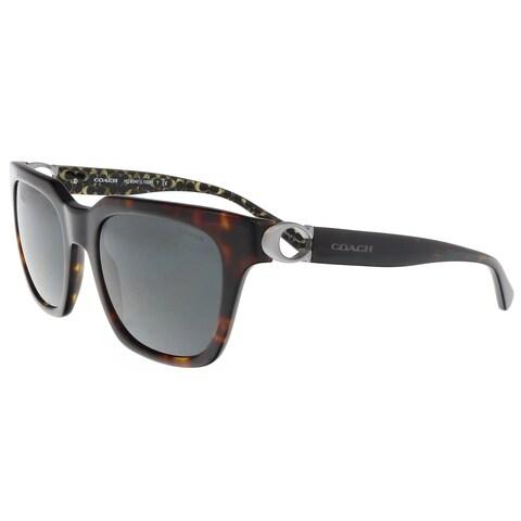 Coach HC8240 550787 Dark Tortoise Square Sunglasses - 52-21-140