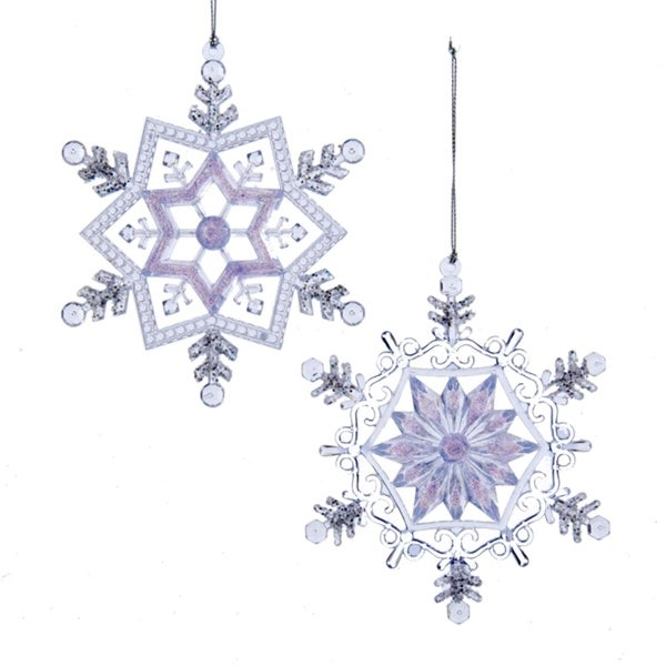 """5.25"""" Ice Palace Frosted Kingdom Glittered Snowflake Christmas Ornament - CLEAR"""