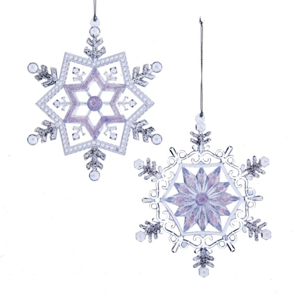 "5.25"" Ice Palace Frosted Kingdom Glittered Snowflake Christmas Ornament"