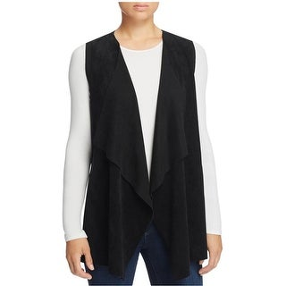 Calvin Klein Womens Casual Vest Suede Drape