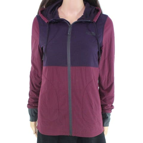 The North Face Womens Jacket Purple Size XS Full-Zip Colorblocked