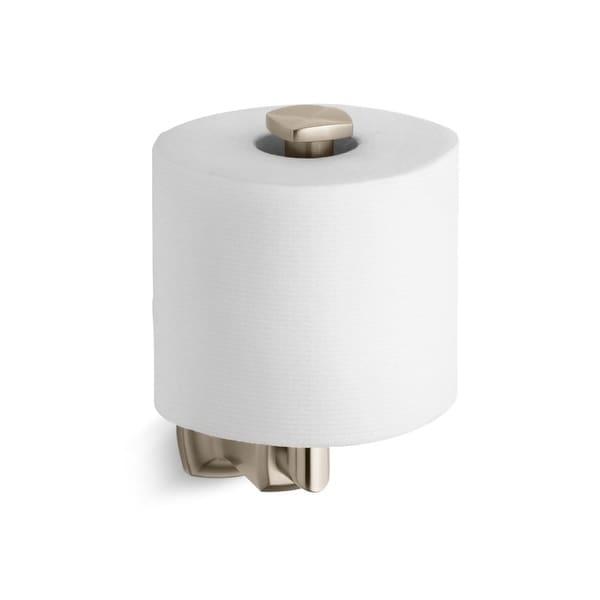 shop kohler k 16255 margaux single post vertical toilet paper holder n a free shipping today. Black Bedroom Furniture Sets. Home Design Ideas