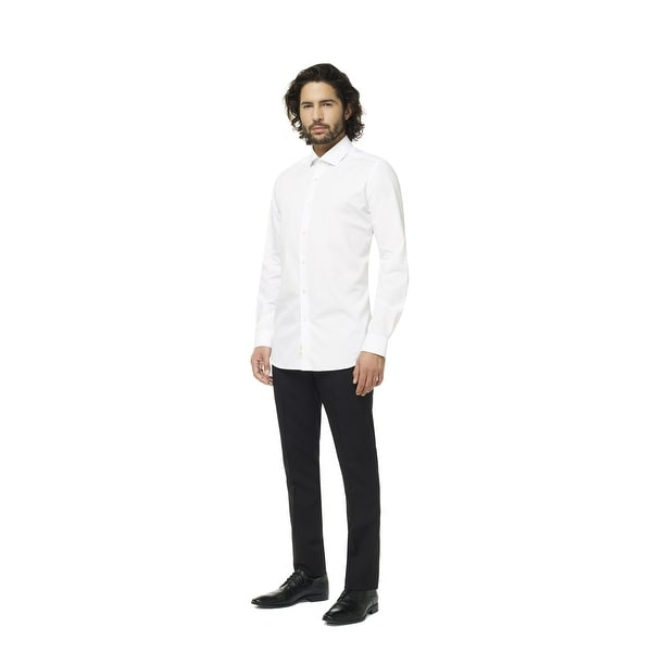 White Knight Classic Men Adult Slim Fit Shirt - 3XL - xxx-large