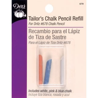Tailor's Chalk Pencil Refill-Blue, Pink & White