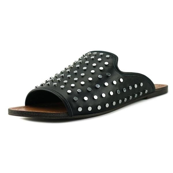 Jessica Simpson Kloe Women Open Toe Leather Black Slides Sandal