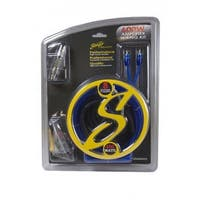 Stinger  8 gal Copper 600 watts Amp Kit with Blue Twisted RCA Wire