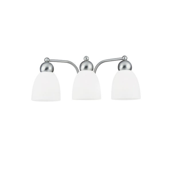 Sea Gull Lighting 49436BLE-962 Metropolis 3-Light Bath Brushed Nickel Finish - Nickel Finish