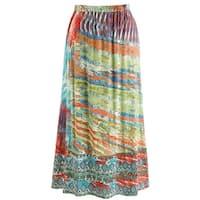 Women's Peasant Broom Skirt - Landscape Of Color Boho Ankle Length