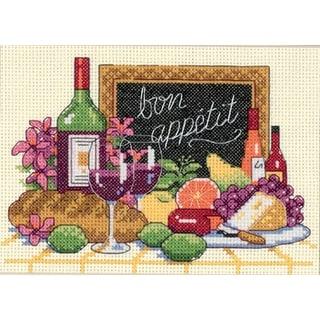 "Bon Appetit Mini Counted Cross Stitch Kit-7""X5"" 14 Count"