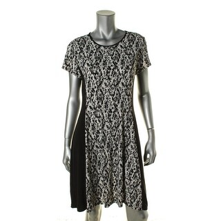 Vince Camuto Womens Printed Sheath Wear to Work Dress
