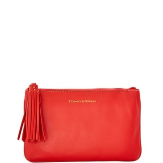 Dooney & Bourke Lambskin Carrington Pouch (Introduced by Dooney & Bourke at $88 in Aug 2016) - Red