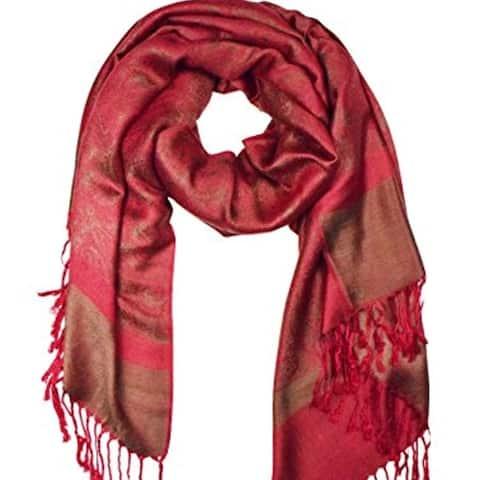 Womens Paisley Jacquard Pashmina Scarf Stole Wrap Shawl - one size