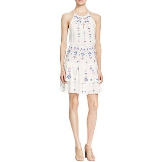 Parker Womens Casual Dress Keyhole Embroidered