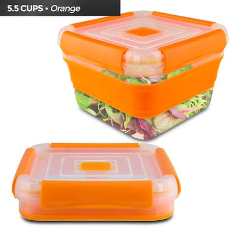 Cool Gear Collapsible 5.5 Cup Food Storage Container (Orange)