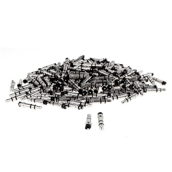 Unique Bargains 3.5mm Stereo Male Plug Audio Headphone Earphone Jack Connector Black 200pcs