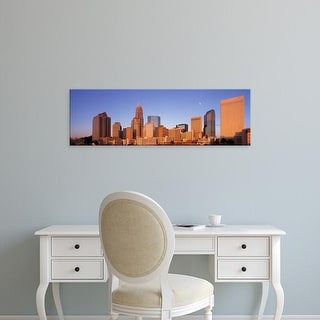Easy Art Prints Panoramic Images's 'View Of A Urban Cityscape, Charlotte, North Carolina, USA' Premium Canvas Art