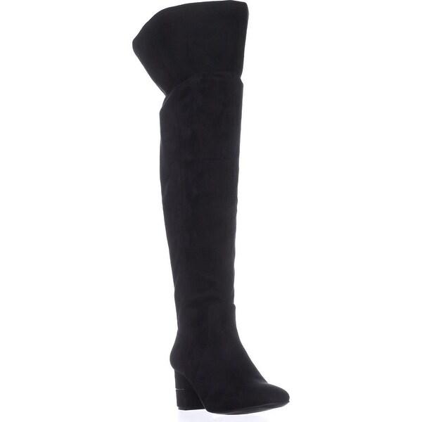 A35 Novaa Wide Calf Over The Knee Boots, Black