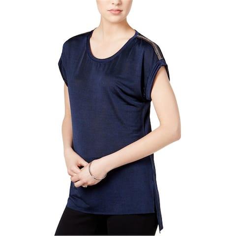 Bar Iii Womens High-Low Embellished T-Shirt