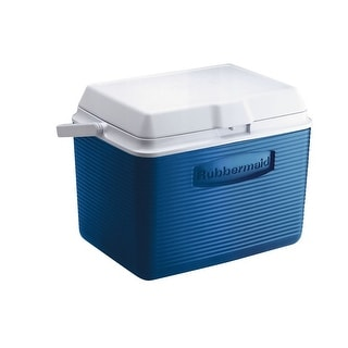 Rubbermaid 2A13-04 MODBL One Handled Victory Cooler, 24 Quart, Blue