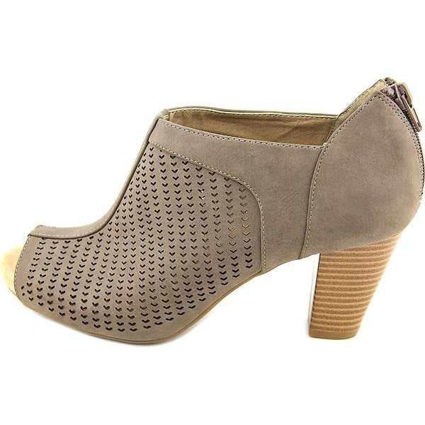 Giani Bernini Womens Alanny Open Toe Classic Pumps Dark Taupe Size 8.5
