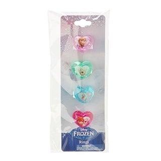 Disney Frozen Plastic Rings - Heart Shaped, 4 Count
