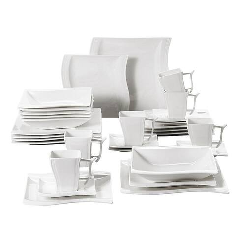 MALACASA Flora Porcelain Dinnerware Set (Service for 6)