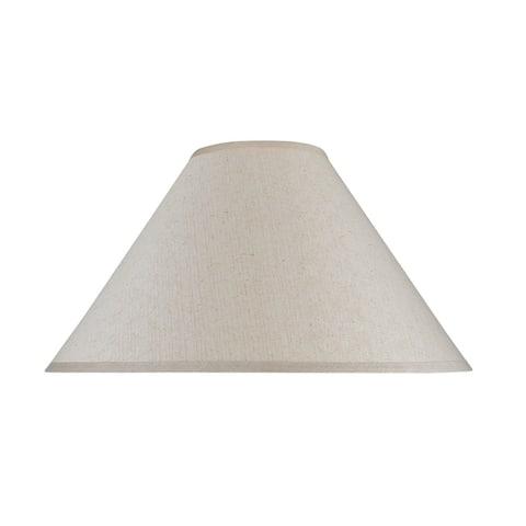 "Aspen Creative Hardback Empire Shape Spider Construction Lamp Shade in Off White (6"" x 19"" x 12"")"