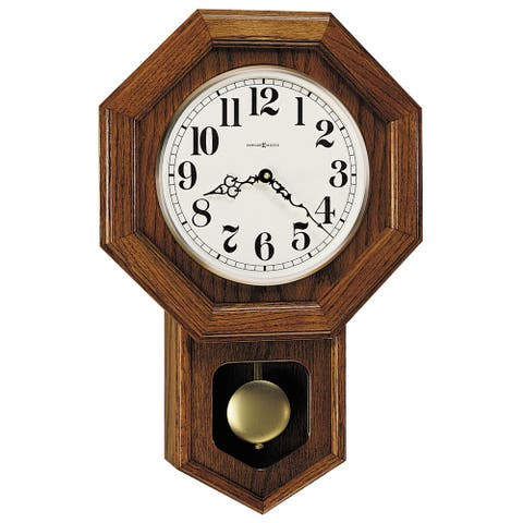 Howard Miller Katherine Classic, Vintage Schoolhouse Style, Octagonal Chiming Wall Clock, Reloj De