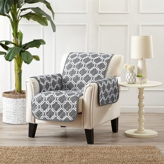 Link to Great Bay Home Printed Reversible Chair Furniture Protector Similar Items in Slipcovers & Furniture Covers