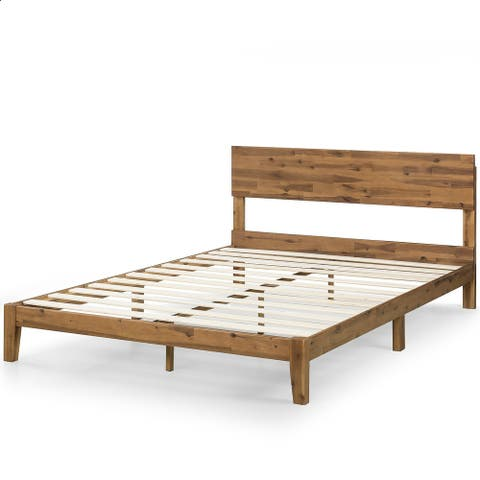 Priage by Zinus 10 Inch Wood Platform Bed with Headboard