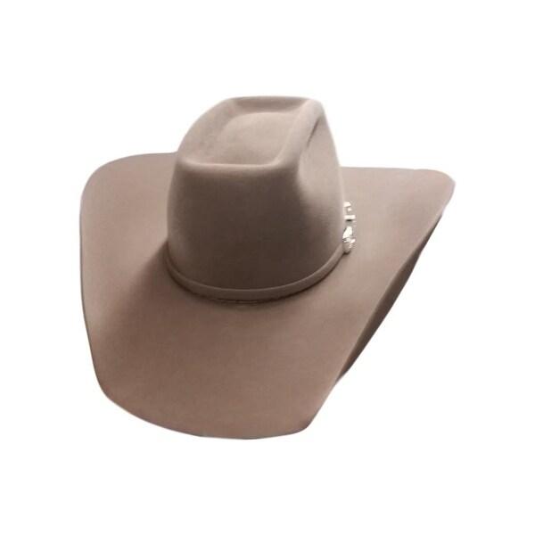 db3e8b11b3072 Shop American Cowboy Hat Mens Felt Lucky 7X Brick Crown - Free ...