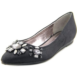 Kenneth Cole Reaction Step Forward Women Round Toe Canvas Black Flats